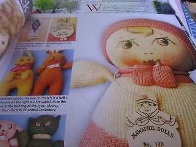 4pg Mawaphil Nelke Stockinet Crib Doll MAGAZINE ARticle / Jean Grout b1 | eBay