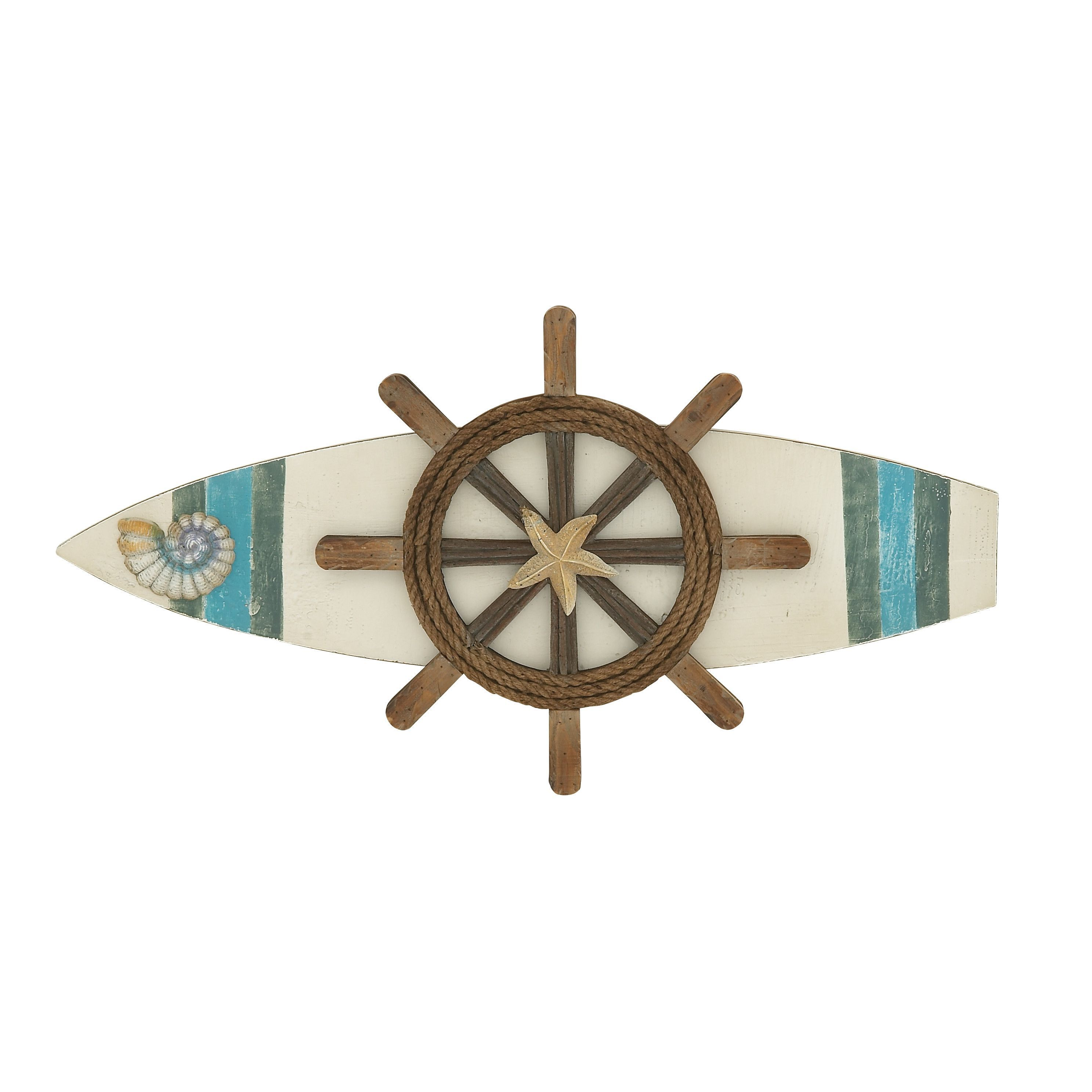 Incorporate oceanic imagery into your living room or den with this