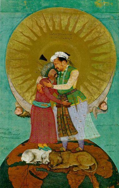 Shah Abbas of Safavid Persia and the Mughal emperor Jahangir, by Abul Hasan