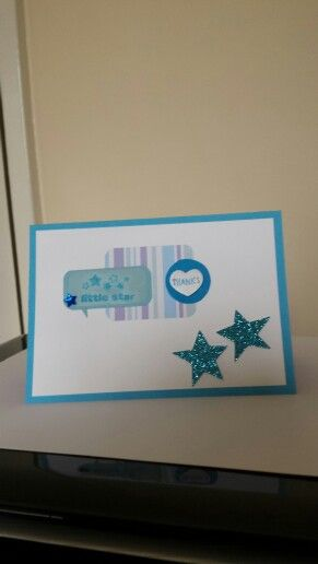 Blue thanks card