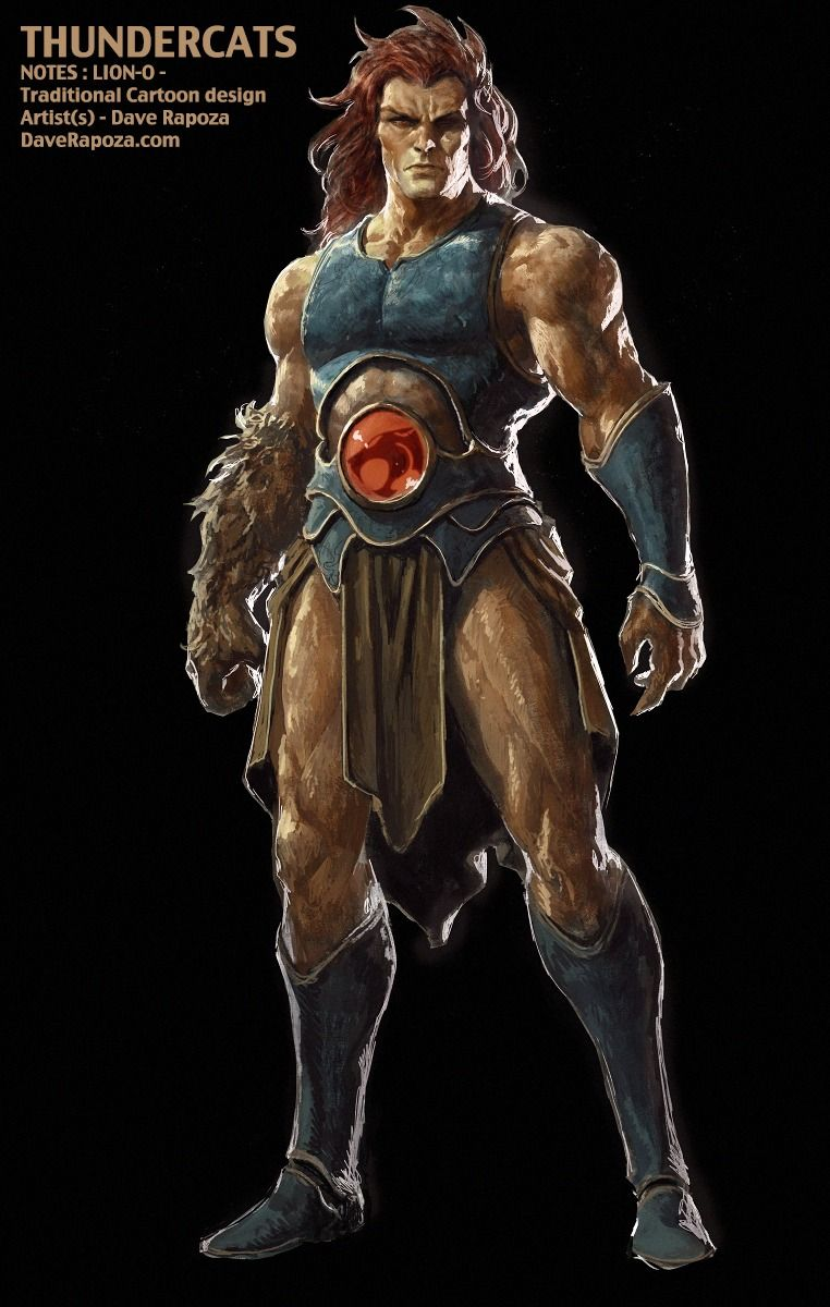 daverapoza:  Awhile ago I was asked to create a piece for a Thundercats pitch. They wanted a realistic Lion-O in the traditional cartoon design. Unfortunately the pitch never got picked up and I guess its ok to post this up at this point.Hope you like it!  DaveRapoza.com