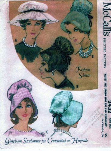 VINTAGE-1960-LADIES-3-DIFFERENT-HAT-STYLES-PATTERN-VERY-CLASSY-1013