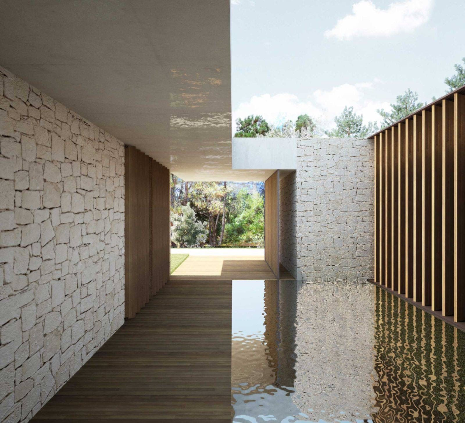 The house in la cañada is placed on a residential area very close to valencia its plot is surrounded by existing vegetation and opened to its immediate