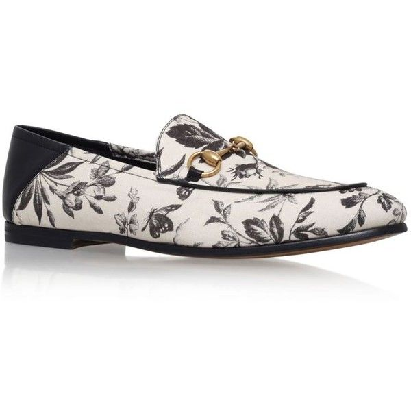 Gucci Brixton Floral Loafer ($535) liked on Polyvore ...