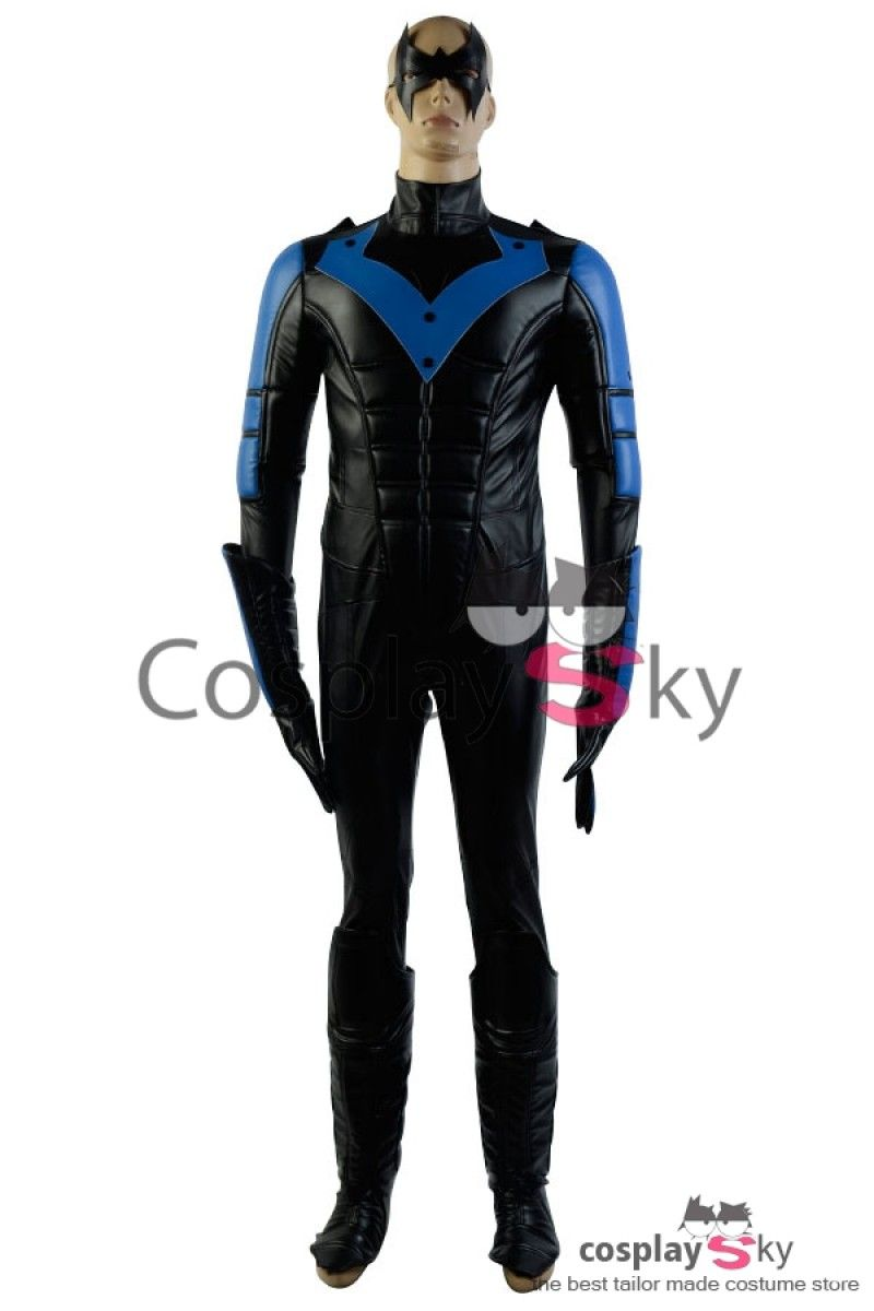 "Batman:Arkham City Nightwing Richard John/""Dick/""Grayson Cosplay Halloween Costume"