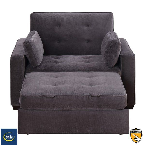The Serta Anderson Twin Convertible Chair Is A Pull Out Twin Size