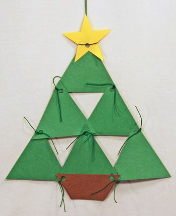 Construction Paper Triangles Christmas Tree DIY  Christmas Trees