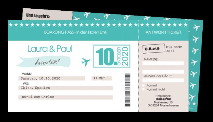 Einladungskarten Hochzeit Reisen │ Planet Cards.de