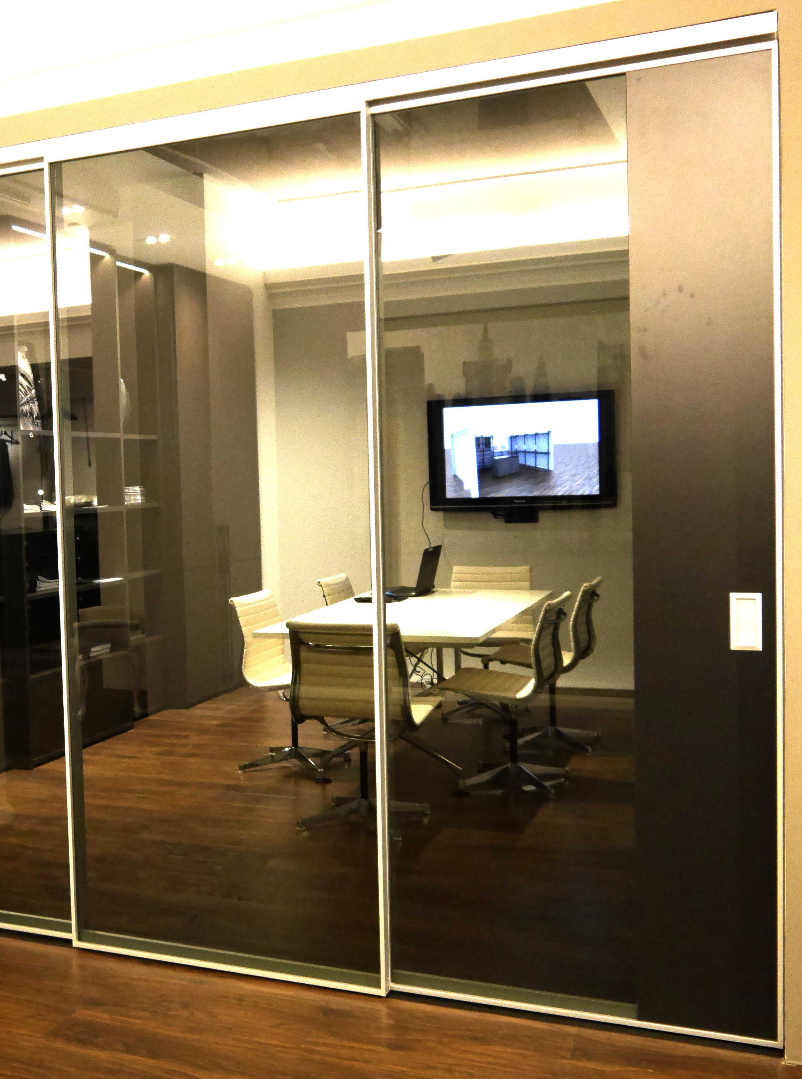 Arbeitszimmer Home Office Buro Mit Schiebetur Im Industrial Style
