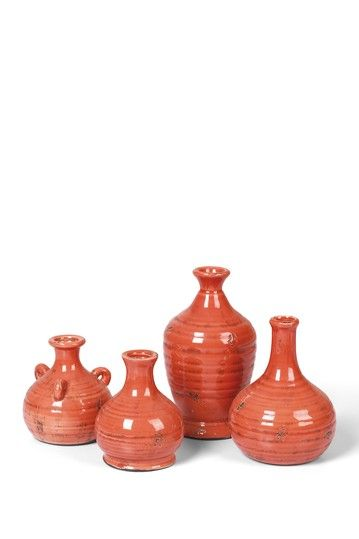 Never Ordinary Vintage Market Decor  Prosecco Bud Vases - Persimmon - Set of 4