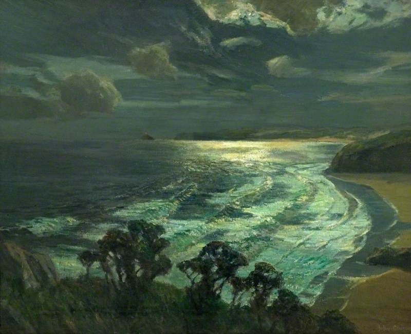 Littlespacey Albert Julius Olsson Moonlight St Ives Bay Cornwall 1937 Pejzazhi Kartiny Pejzazha Kartiny