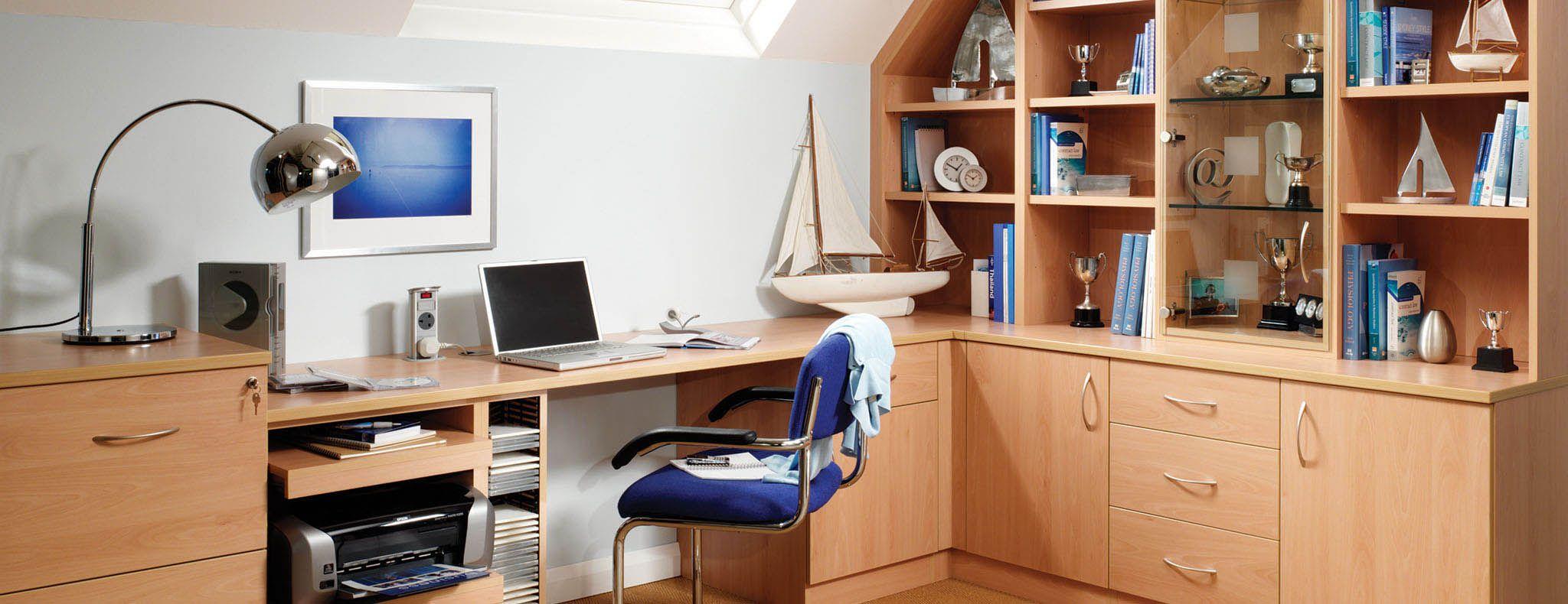 contemporary study furniture. Contemporary · Prima Beech Modern Home Study Furniture E