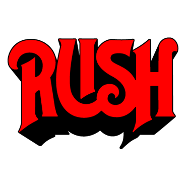 rush band logo inspr typo music logos pinterest rush band rh pinterest co uk Glam Metal Band Logos 70s Rock Bands Logos