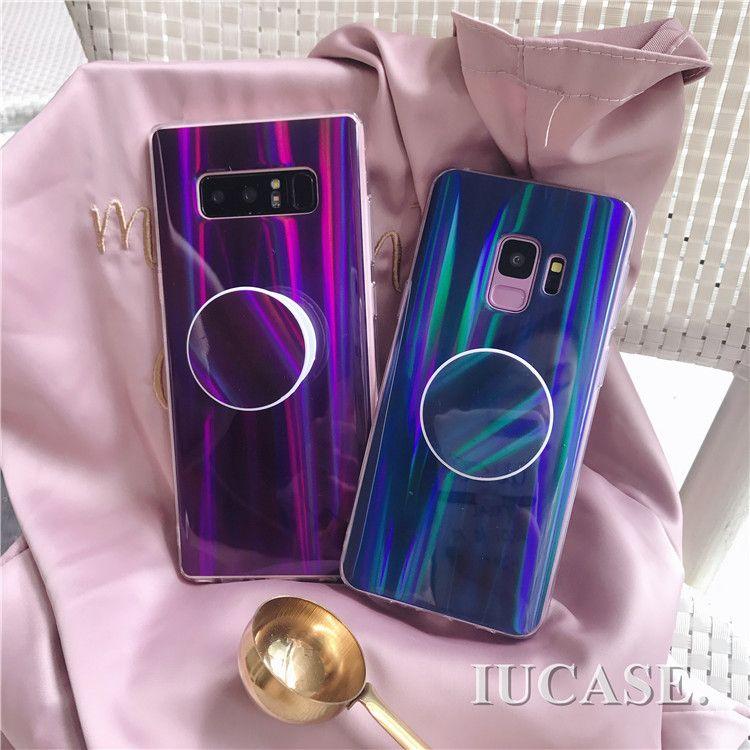 new styles 0d519 54e59 Phone Case Lazer Shine Gradient Color Aurora Silicone TPU PopSocket ...