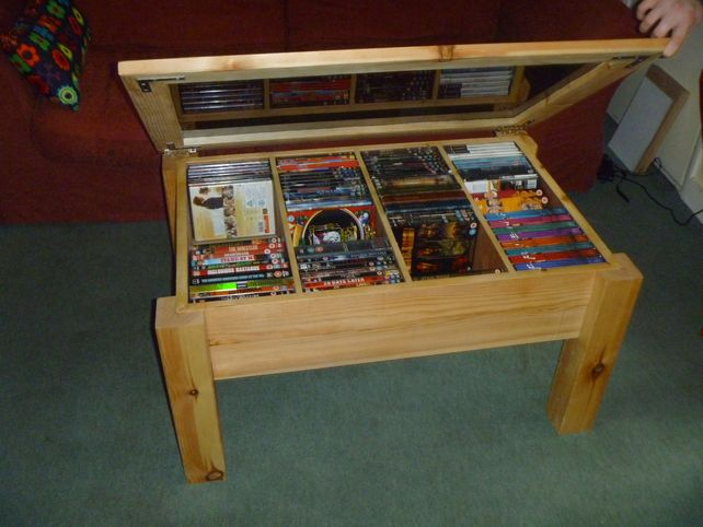 DVD Storage Coffee Table 17500 Now I can finslly keep a cleared