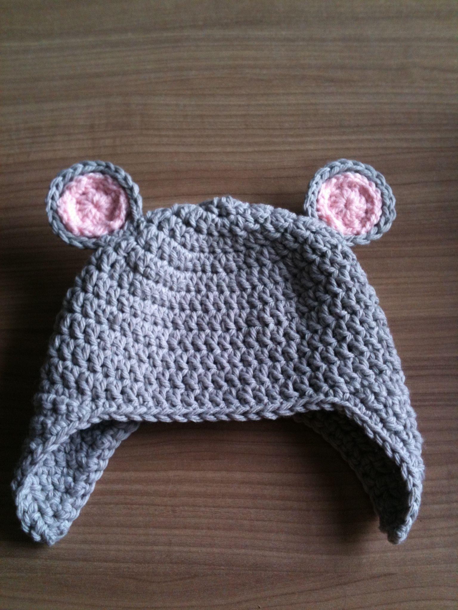 Crochet Mouse Hat Own Creations Crochet Crochet Mouse Hats