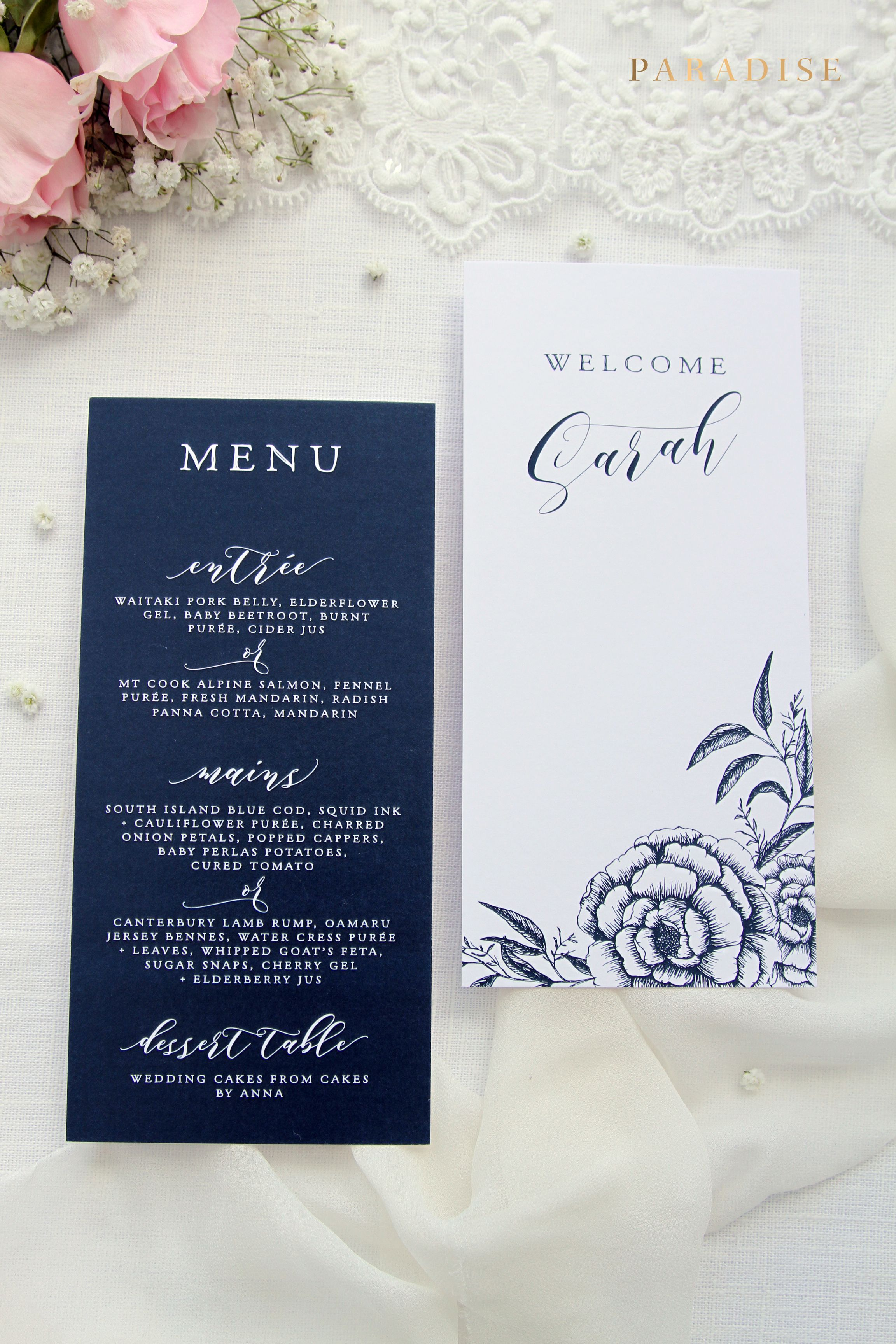 Medium Of Wedding Menu Template