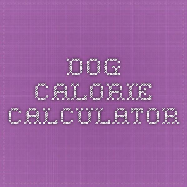 Dog calorie calculator