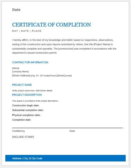 Electrical Installation Test Certificate Template (5