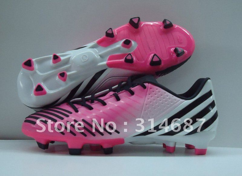 New arrival LZ TRX FG Pink White Men's Soccer Cleats Football Shoes microfibre skin size us6.5-11 on AliExpress.com. $65.00