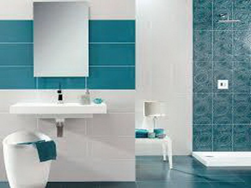modern turquoise tiles turquoise bathroom with modern design white and turquoise bathrooms pinterest wall tiles bathroom - Modern Bathroom Wall Tile Designs