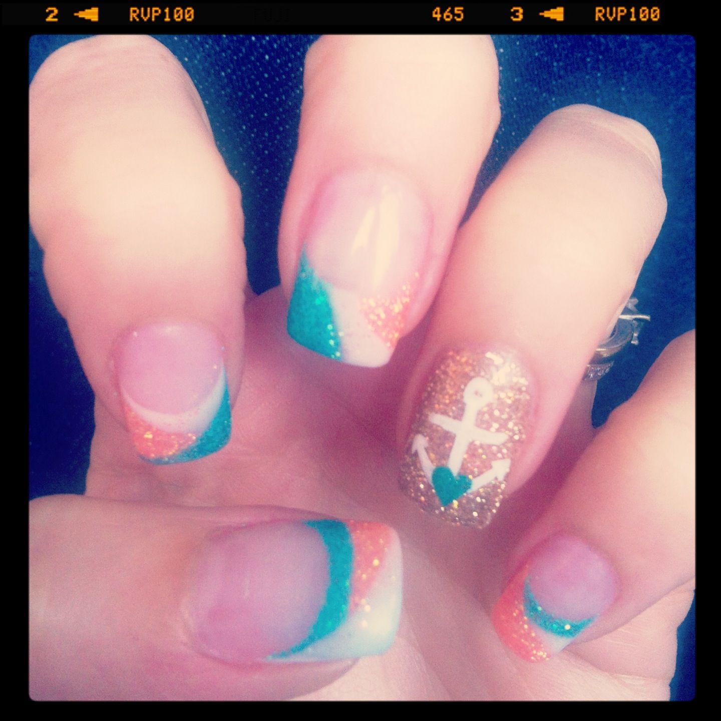 Anchor gel nails | Hair&Makeup&Nails | Pinterest