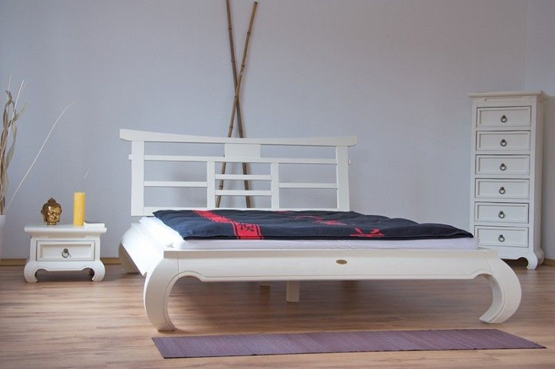 Bett 180 X 200 Feng Shui Weiß Pinie Massiv Holz Moebel