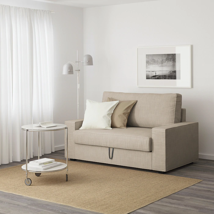 Vilasund Convertible 2 Places Hillared Beige Ikea En 2020 Canape Convertible Pas Cher Canape Convertible Canape Gris Clair