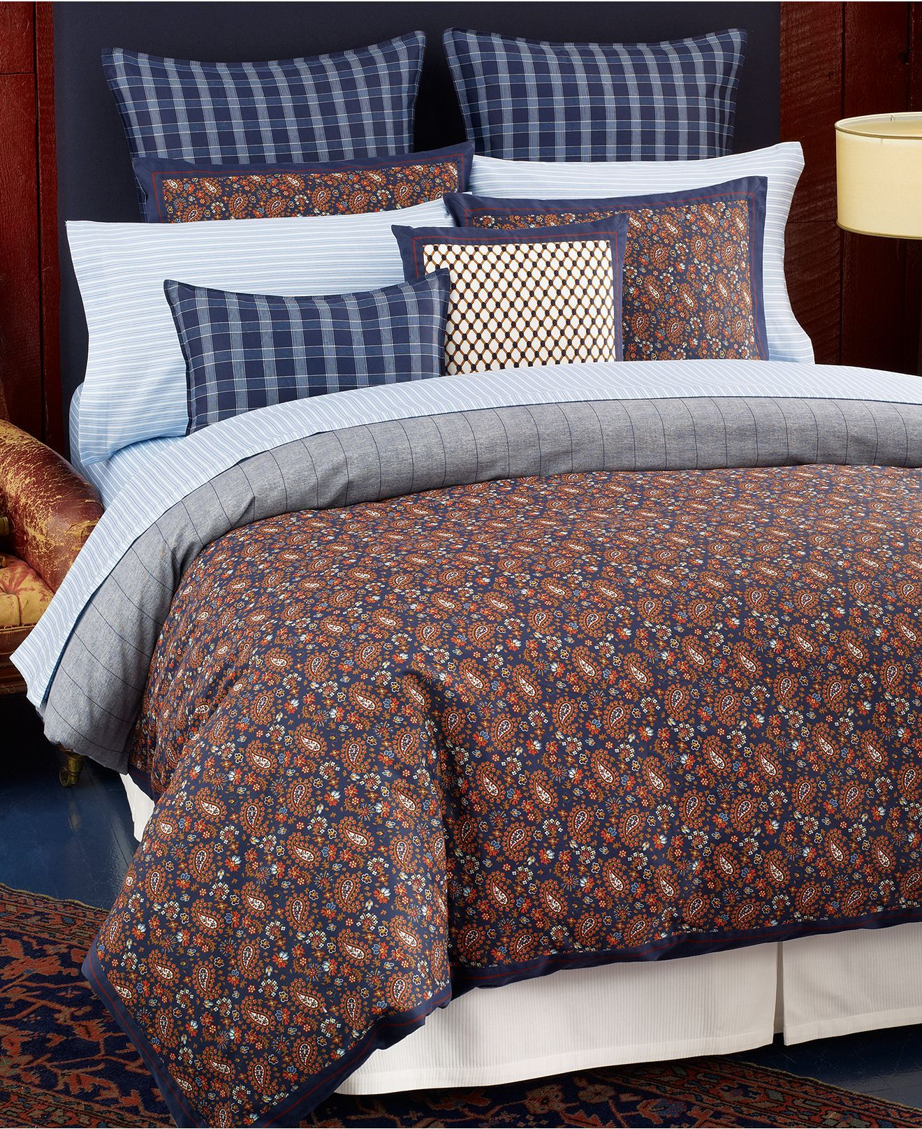 Tommy Hilfiger Bedding Shelburne Paisley Comforter And