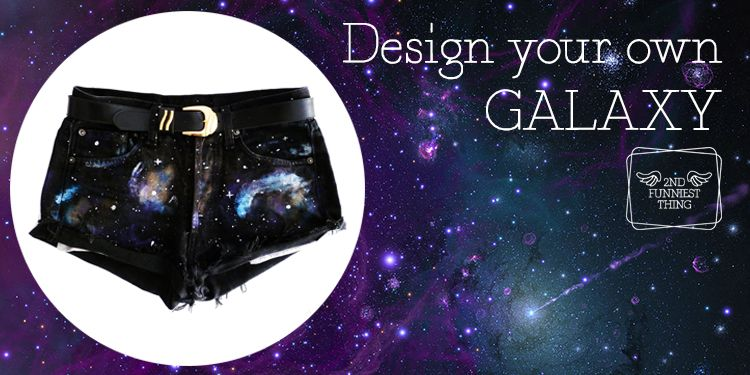 2nd Funniest Thing : DIY and unique pieces: Galaxy jeans DIY