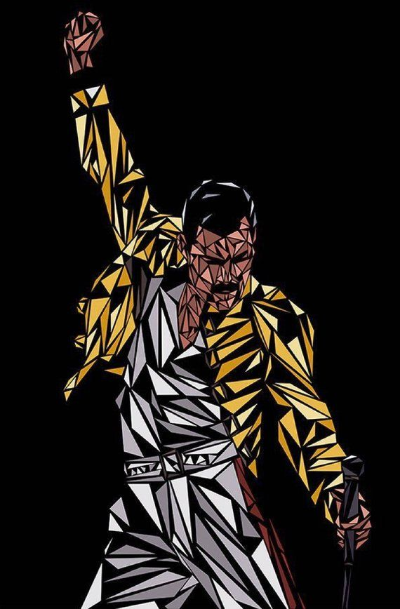 Buy 1 Get 1 Free Coupon BOGO18! Freddie Mercury Stained Glass Queen Cross Stitch Pattern Counted Cross Stitch Chart Pdf Format 181275-077