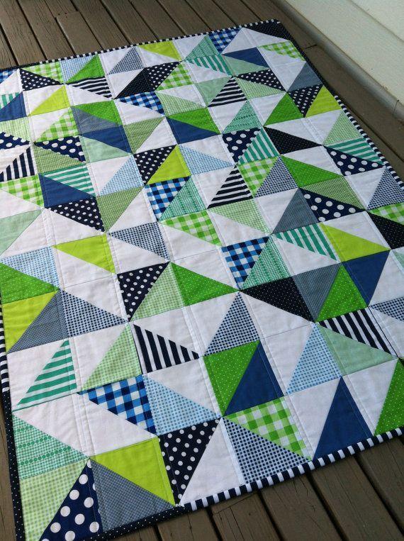PDF Pattern for Geometric Modern Cot Crib Patchwork Quilt in ... : cot patchwork quilt patterns - Adamdwight.com