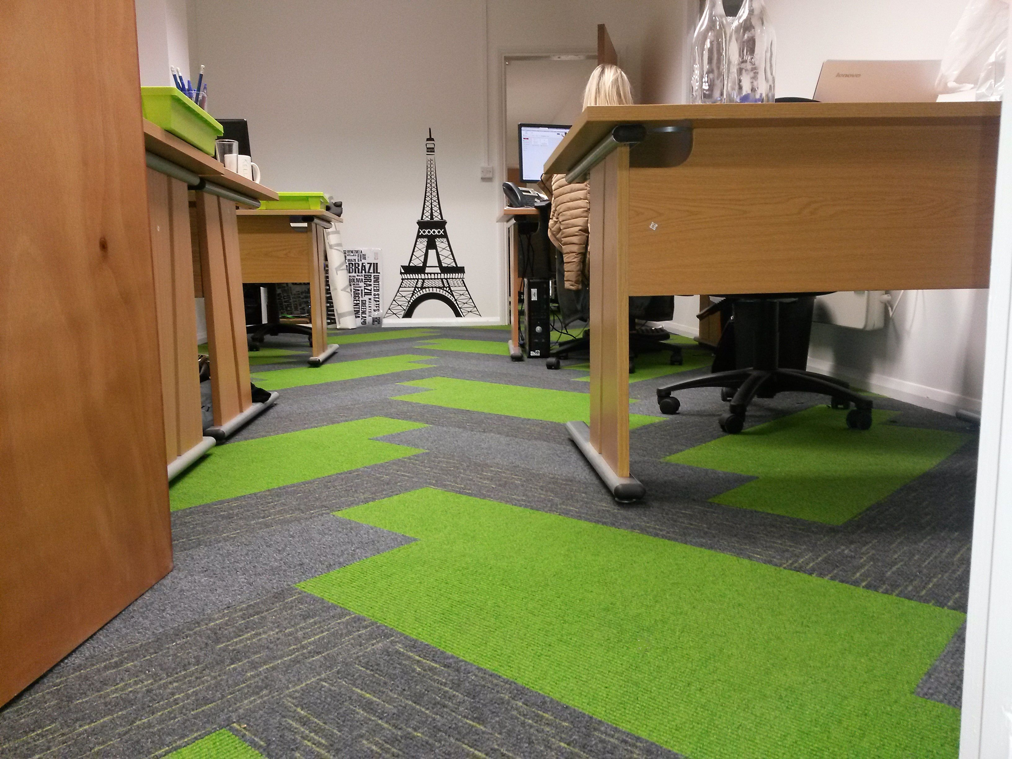 Green And Grey Office Carpet