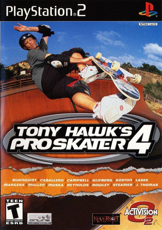 Tony Hawk's Pro Skater 4 (PS2) Pro skaters, Tony hawk