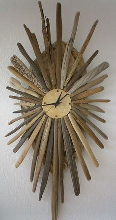 driftwood and boat fibreglass face clock bois flott bois flott horloge bois et d co bois. Black Bedroom Furniture Sets. Home Design Ideas