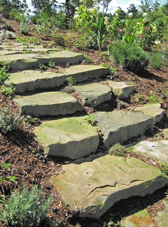 18 solutions pour crer un escalier extrieur - Marche En Pierre Exterieur