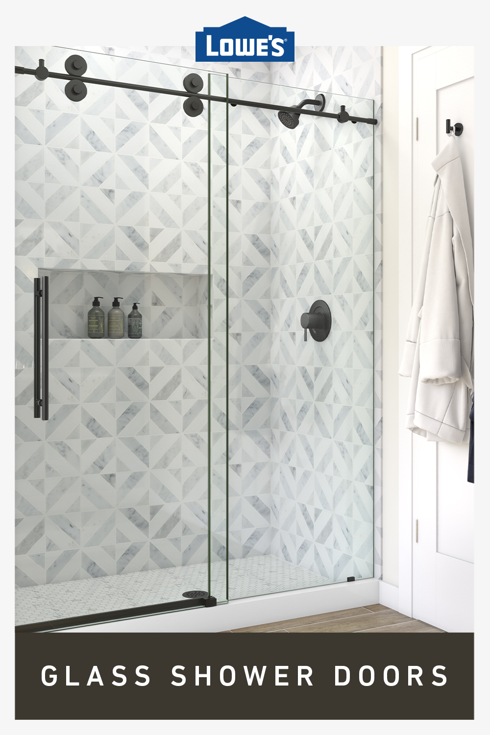 Maximize Space With Glass Shower Doors In 2020 Shower Doors Bathroom Makeover Small Bathroom Remodel