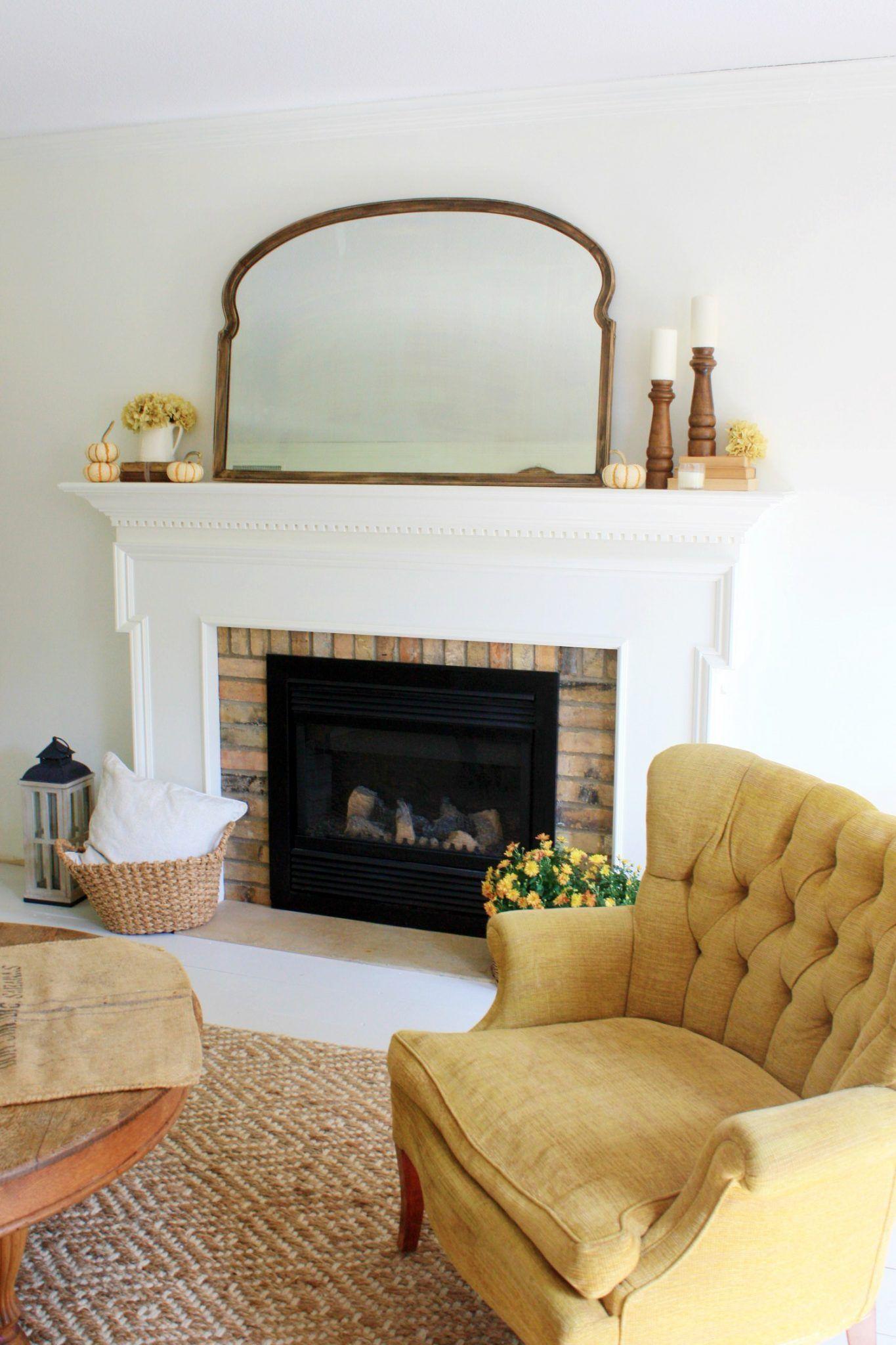 Simple Rustic Fall Living Room Decor | Fall living room ...