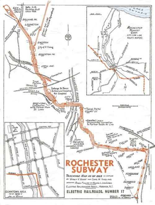 Downtown Rochester Ny Old Subway Map Blue Line.Rochester Ny Subway Map Nostalgia Rochester New York Subway Map