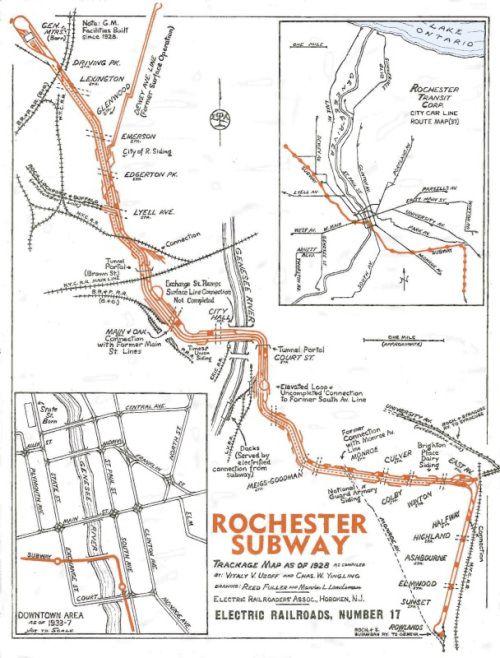 Rochester Abandoned Subway Map.Rochester Ny Subway Map Nostalgia Rochester New York Subway Map