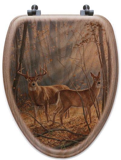 Woodland Splendor Oak Elongated Toilet Seat