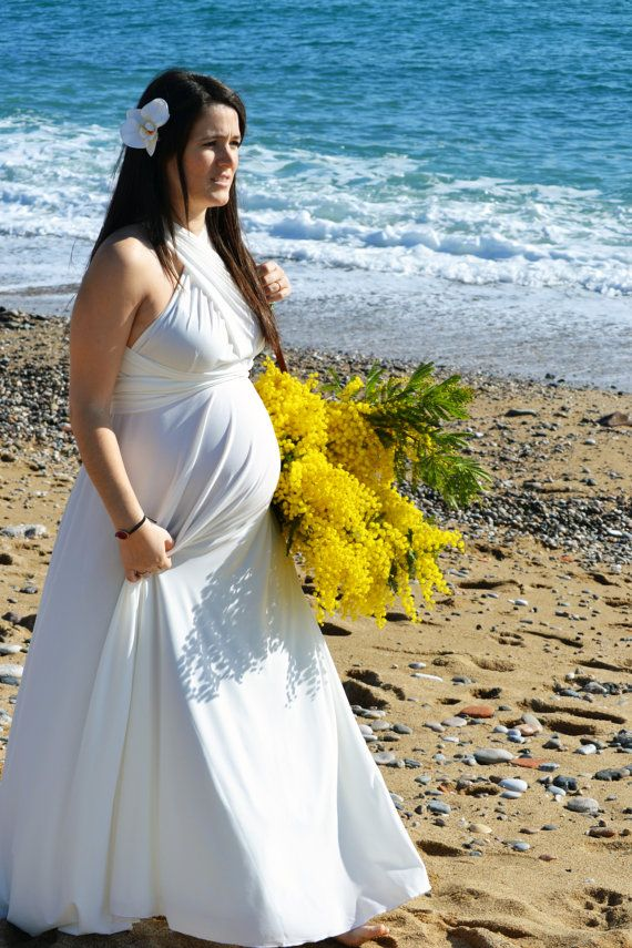 Maternity Wedding Dress Ready To Ship Bridal Gown White Maxi