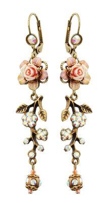 Setty Gallery - Michal Negrin Jewelry Crystal Flower Hook Earrings - 100-112221-002, $87 (http://www.settygallery.com/michal-negrin/michal-negrin-jewelry-crystal-flower-hook-earrings-100-112221-002/)