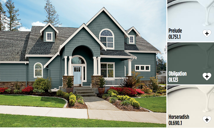 Good Olympic Exterior Paint Part - 13: Exterior House Paint Colors From Olympic® Paints. Stand Out From Your  Neighborhood With These Exterior Paint Colors!