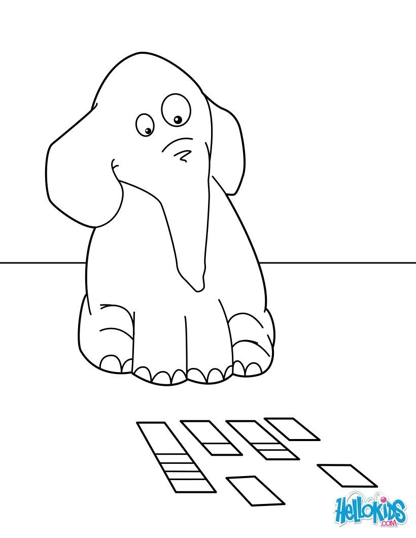 Hellokids Members Love This Elephant Playing Cards Coloring Page You Can Choose Other Pages