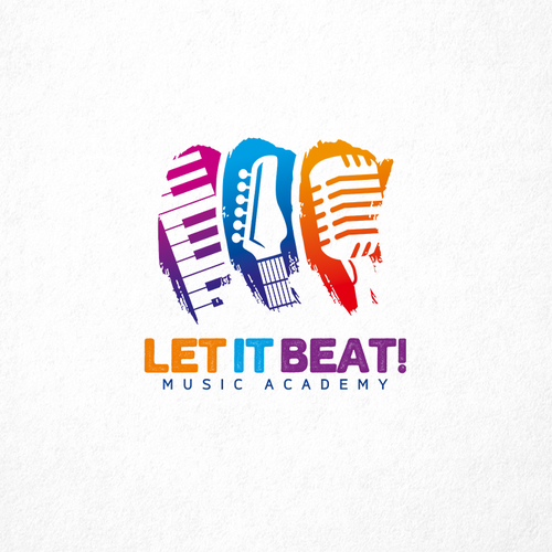 Let It Beat Music Academy Needs Fresh Modern Logo Music Academy Modern Music Learning Center For All Ages And Lev Modern Logo Music Logo Design Logo Design