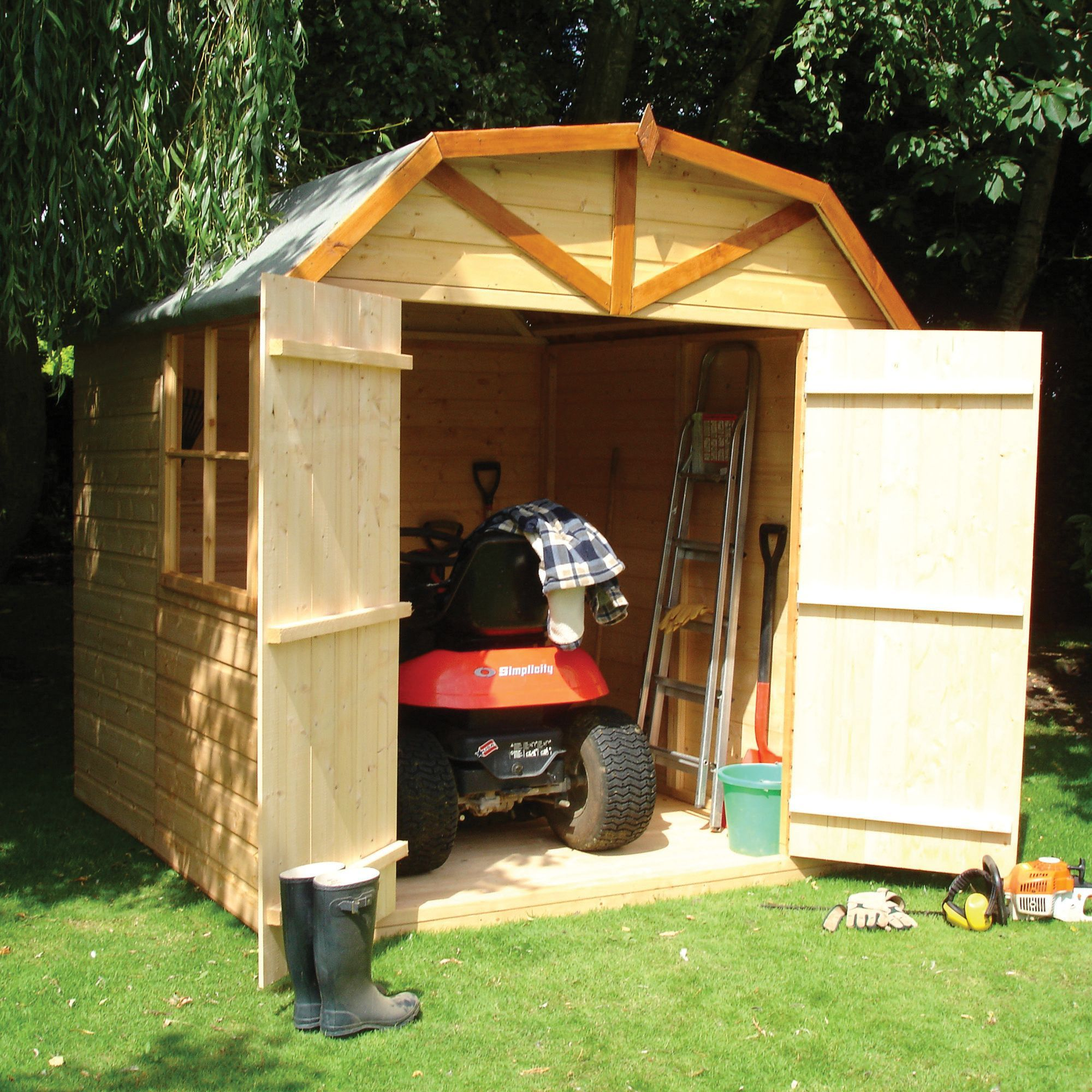 wickes barn decorative garden shed 7x7 wickescouk