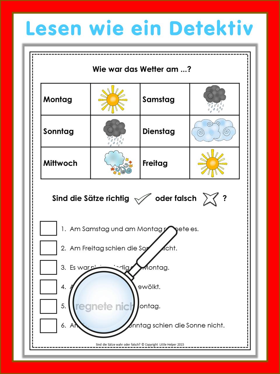 german reading challenge richtig oder falsch 24 leser tsel my teaching resources german. Black Bedroom Furniture Sets. Home Design Ideas