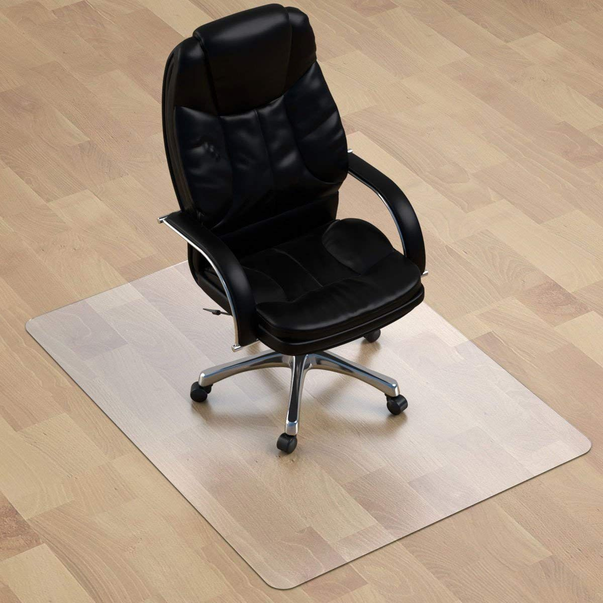 Thickest Chair Mat For Hardwood Floor 1 8 Thick 47 X 35 Crystal