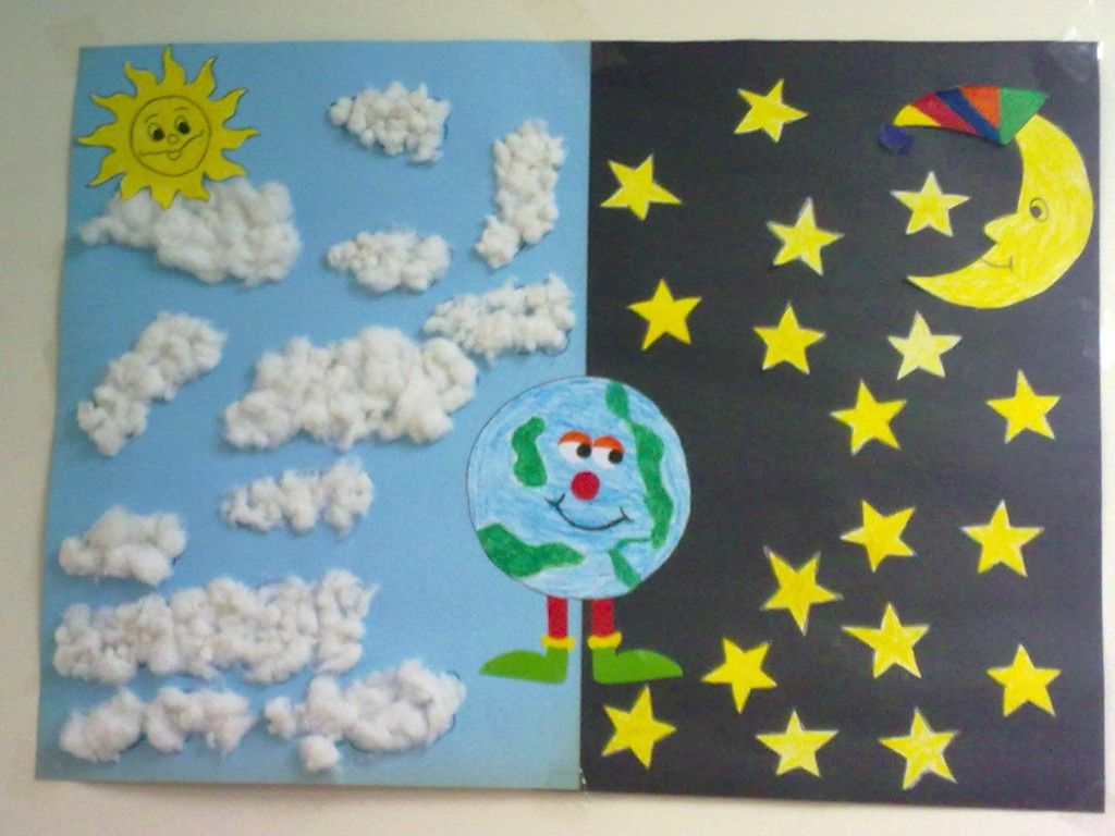 Day And Night Craft Idea For Kids 1 Crafts KindergartenPreschool